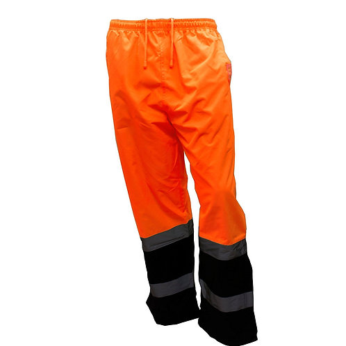 Insulated Thermal Lined Waterproof Rain Pants Over Trousers Orange