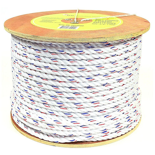 "Poly-Combo 3 Strand Safety Rope, 5/8"" x 600 ft"