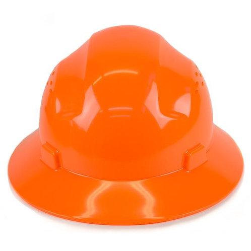 Brim Style Hard Hat with 4 Point Patchet Suspension (Hi-Viz Orange)