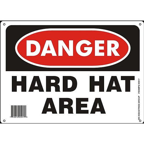"""OSHA Safety Sign, Legend """"Hard Hat Area"""""""