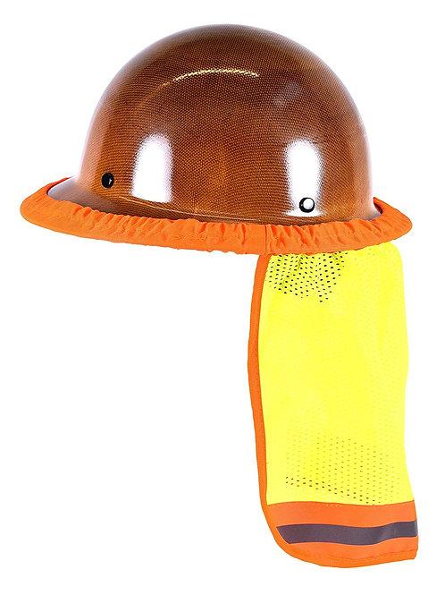 Hi-Viz Lime Reflective Stripe Hard Hat Accessory Neck Shield