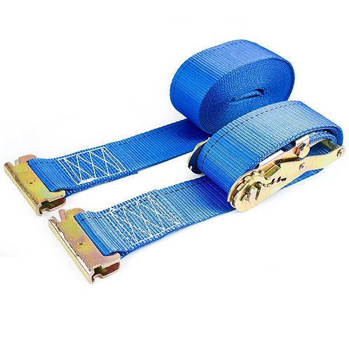 """2"""" x 20 ft Pro Durable Blue Ratchet Strap, Heavy Duty Tie Down"""