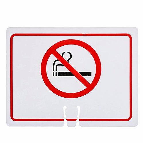 "18""w x 14""h Traffic Cone Sign ""Smoke Free"" Red on White"