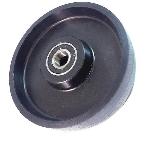 """Pallet Jack Steer Nylon Wheel 7"""" Diameter x 2"""" Wide 20 mm ID"""