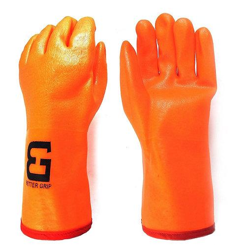 "Better Grip 12"" 3 Layer Liner PVC Gloves Gauntlet Cuff"