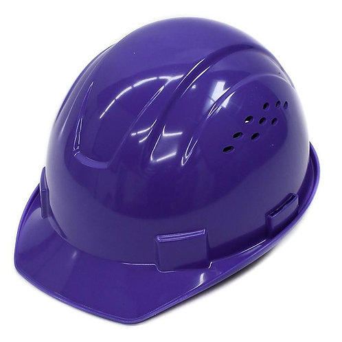 Cap Style Hard Hat with 4 Point Ratchet Suspension (Blue)
