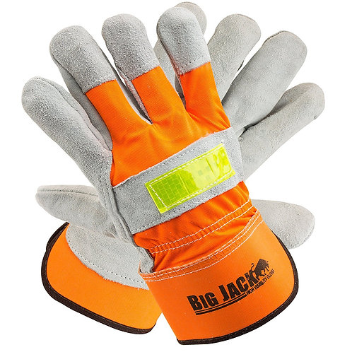 Better Grip Hi-Viz Cowide Leather Palm Gloves