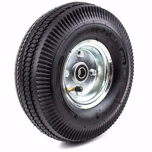 """Pneumatic Hand Truck Air Tires 10"""" x 31/2"""" Wheel with 5/8"""""""