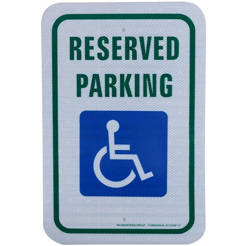 """18""""h x 12""""w """"Reserved Parking"""" Engineer Grade Reflective Aluminum"""