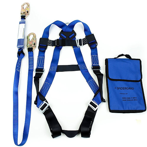 Spidergard Single D-Ring Body Harness Bundle