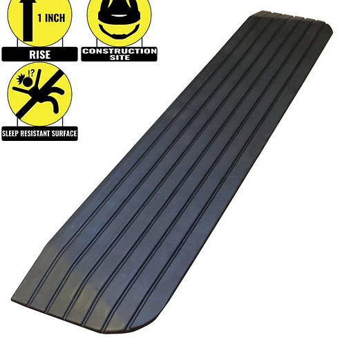 """1"""" Rise Solid Rubber Power Wheelchair Scooter Threshold Ramp"""