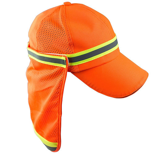 Hi-Viz Workwear High Performance Hat/ Cap with Neck Shade