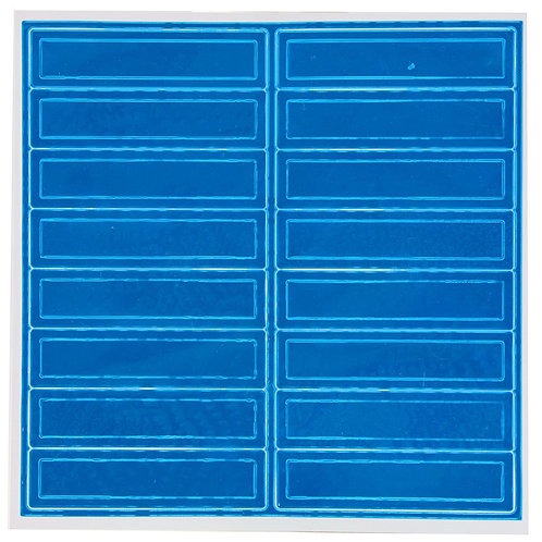 Adhesive Reflective Hard Hat/Helmet Stickers (Blue)