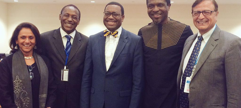 With H E Kandeh Yumkella, AfDB President and other African leaders