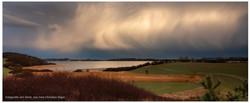 Wolken wie Perlmutt über dem Biosphärenreservat