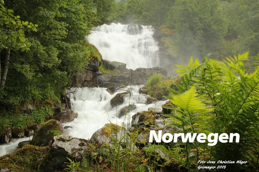 Wasserfälle oberhalb von Geiranger