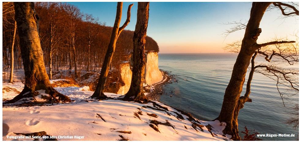 Winterlich über der Piratenschlucht - Kreideküste Rügen