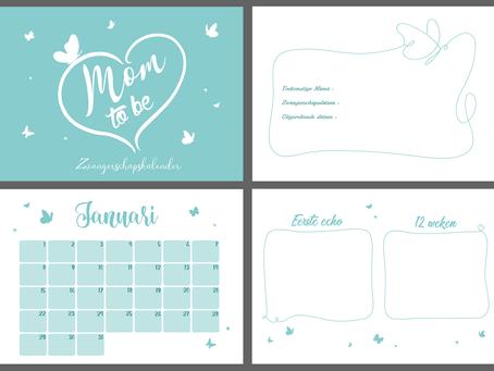 Kalender met mijlpaalmomenten voor de zwangere vrouw!