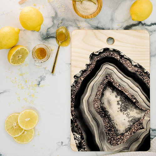 Agate Rose Gold Cutting Board