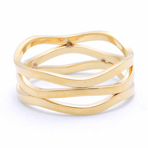 Stackable Wavy Metal Ring