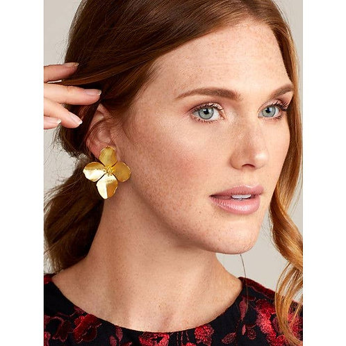 Matte 18k Gold-Plated Garden Party Statement Earring