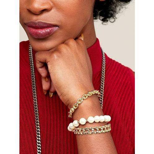 Thin Chain Cuff Bracelet