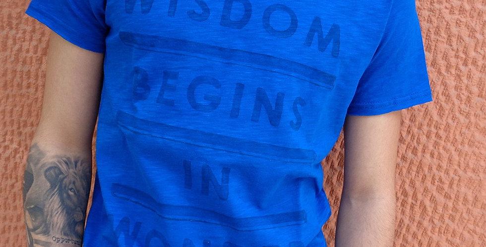 Wisdom Begins in Wonder / Socrates Tshirt