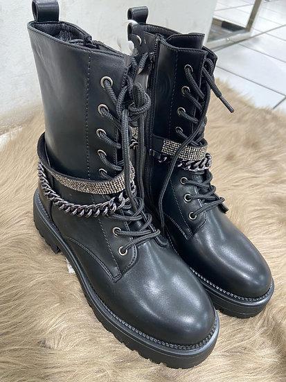 Boots avec strass
