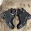 Thumbnail: BOOTS NOIRES BI-MATIÈRES AVEC lacets