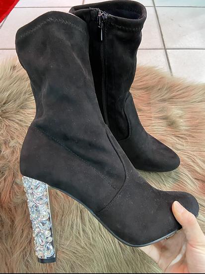 boots a talon avec strasses
