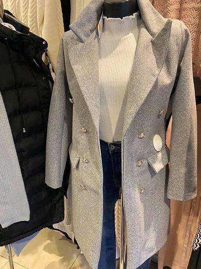 Manteau blazer mi long