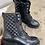 Thumbnail: boots matelassé noir