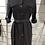 Thumbnail: Robe chemise noire en suédine ceinturée