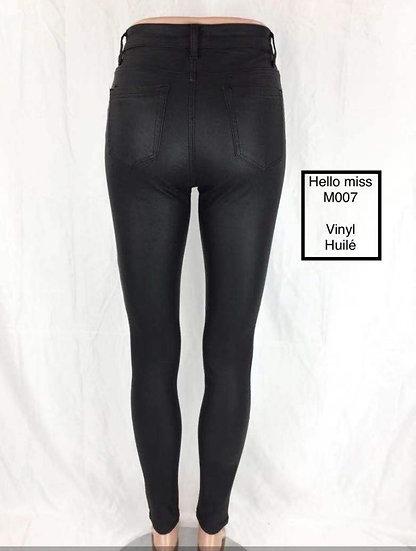Pantalon skinny en simili cuir