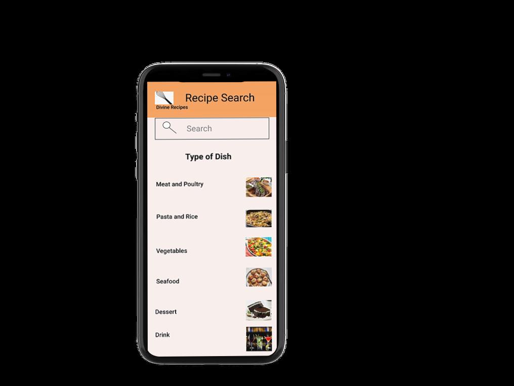 divine recipes -recipe search