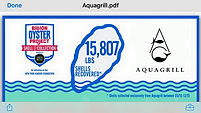 Aquagrill Billion Oyster Project Donation