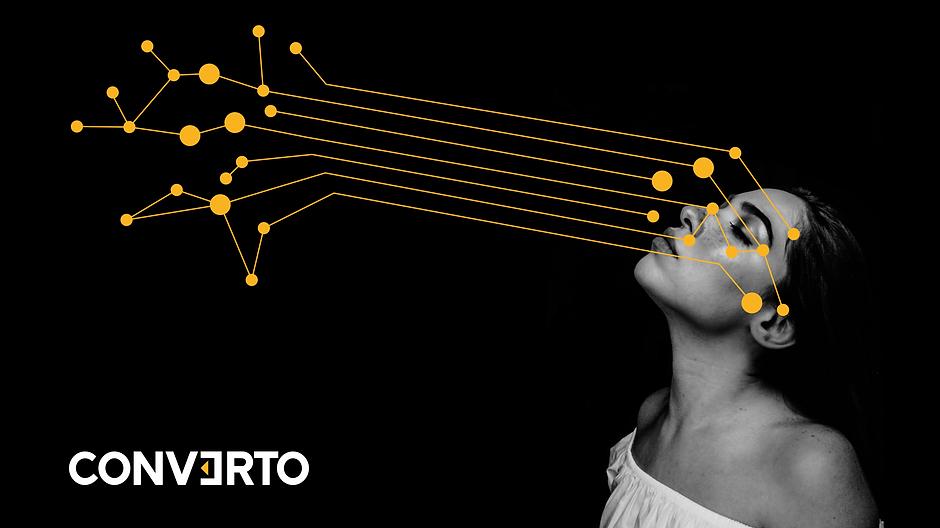 Dataprofiling - Gesicht mit Datenpunkten - Origate by CONVERTO.COM