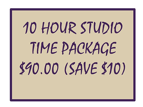 10 Hour Package of Studio Time