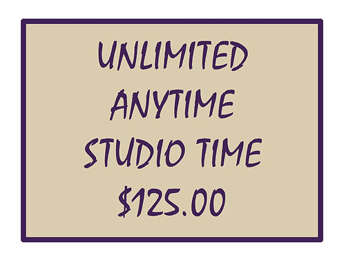 Unlimited Anytime Studio Time