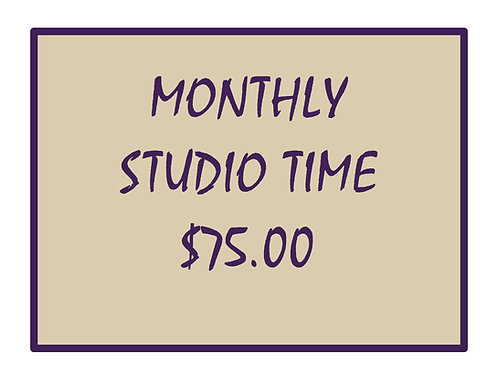 Monthly Studio Time