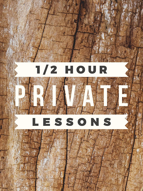 1/2 Hour Private Lesson
