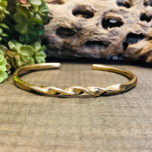 Brass Cold Forged Twist Cuff Workshop, Tuesday, March 3, 2020, 6-9pm