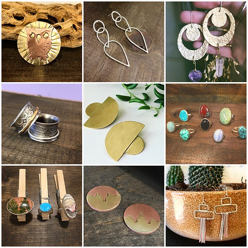 Beginning Jewelry  - Thursdays, 9/3/20 - 10/22/20, 10am-1pm