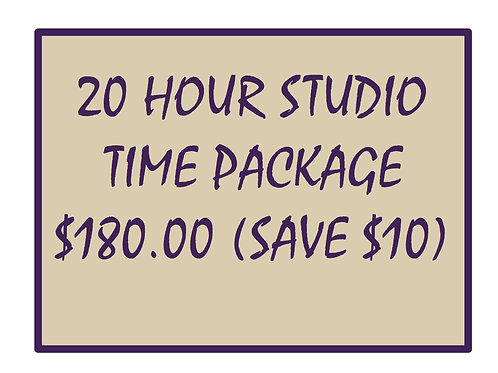 20 Hour Package of Studio Time