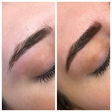 Microblading with Shading before and aft