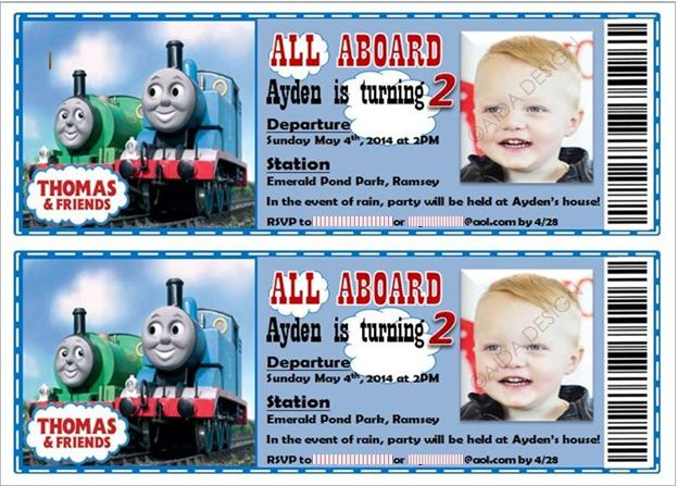 Thomas the Train Birthday Tickets