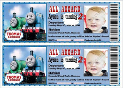 Thomas the Train Birthday Tickets
