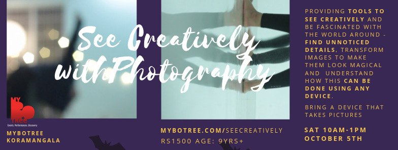 See creatively with photography