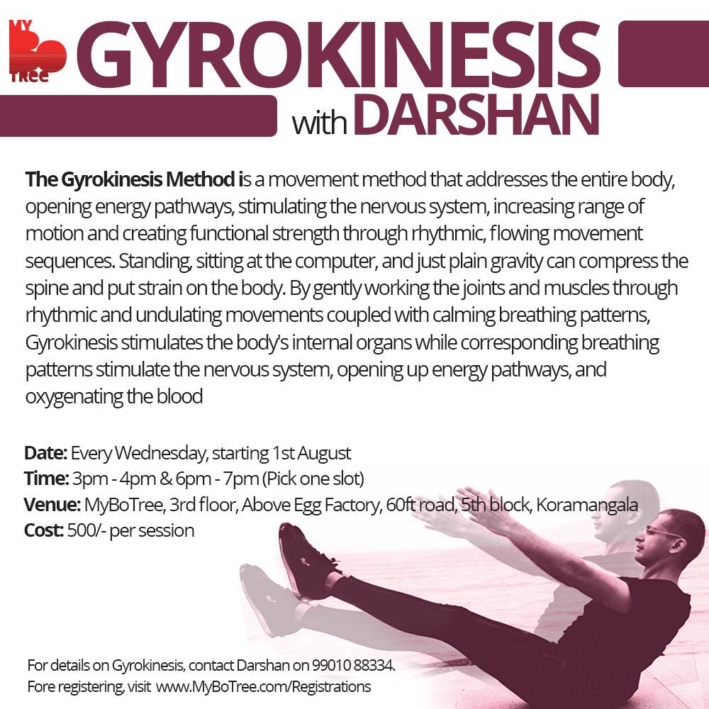 Gyrokinesis with Darshan