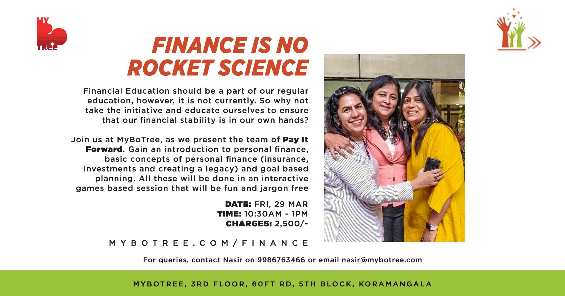 Finance is no rocket science